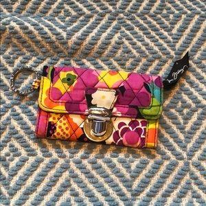 Vera Bradley Retired Keychain wallet/card holder